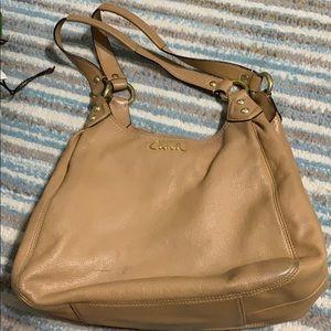 Tan coach purse
